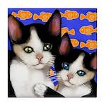 Cat & Kitten Tile Coaster