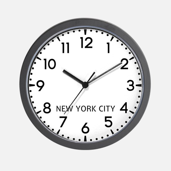 New York City Newsroom Wall Clock