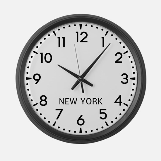 New York Newsroom Large Wall Clock
