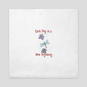 Each Day is a New Beginning Queen Duvet