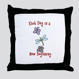 Each Day is a New Beginning Throw Pillow