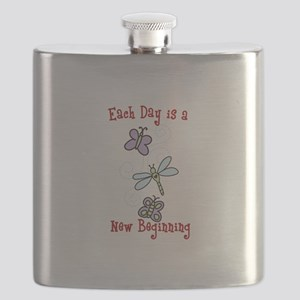 Each Day is a New Beginning Flask