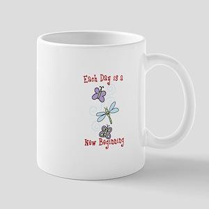 Each Day is a New Beginning Mugs