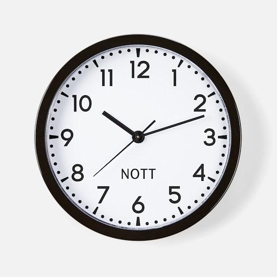 Nott Newsroom Wall Clock