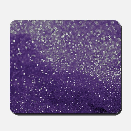 Purple Glitter  Bokeh Mousepad