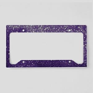 Purple Glitter  Bokeh License Plate Holder
