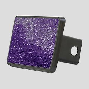Purple Glitter  Bokeh Rectangular Hitch Cover