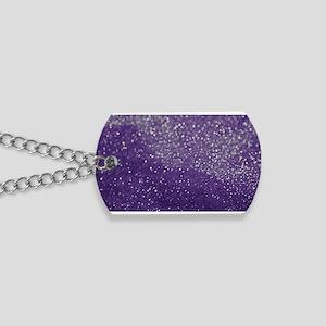 Purple Glitter  Bokeh Dog Tags