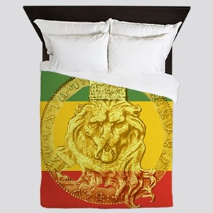 Rasta Colors Ethiopian Lion Queen Duvet