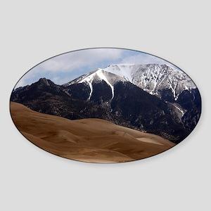 Great Sand Dunes Colorado Souvenir Sticker (Oval)