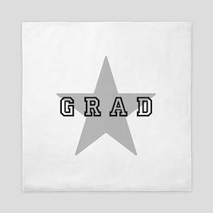 Grad Graduating Graduate Star Queen Duvet