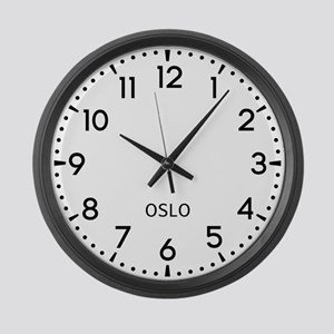 Oslo Newsroom Large Wall Clock