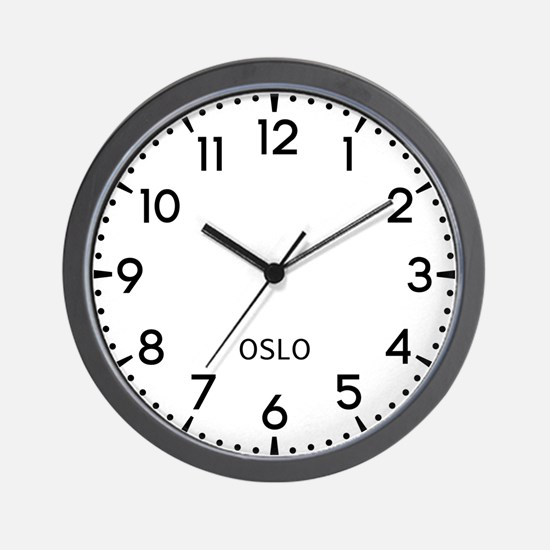 Oslo Newsroom Wall Clock