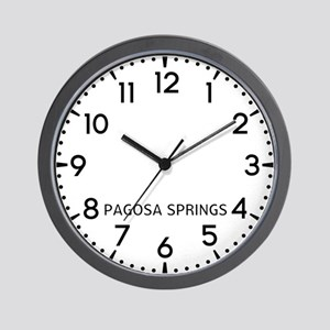Pagosa Springs Newsroom Wall Clock