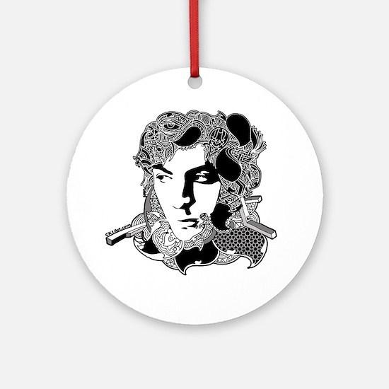 Syd Barrett Round Ornament