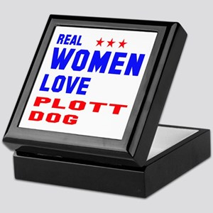 Real Women Love Plott Dog Keepsake Box