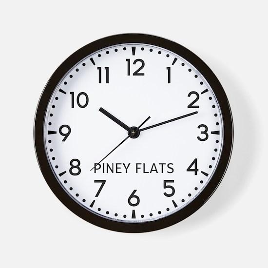 Piney Flats Newsroom Wall Clock
