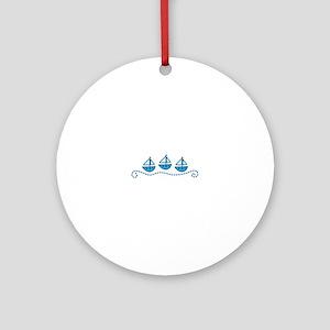 Sailboats Ornament (Round)