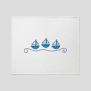 Sailboats Throw Blanket