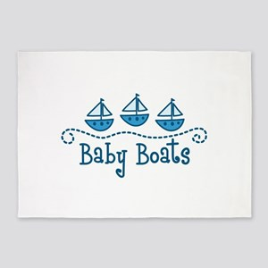 Baby Boats 5'x7'Area Rug