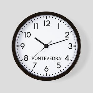 Pontevedra Newsroom Wall Clock