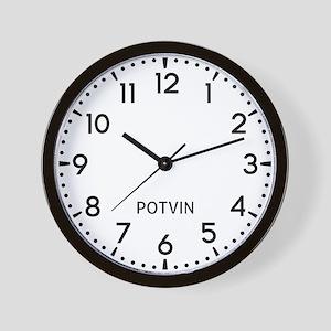 Potvin Newsroom Wall Clock