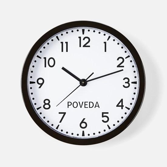 Poveda Newsroom Wall Clock