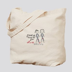 Find A Cure For Divabetics Tote Bag