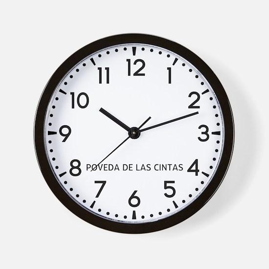 Poveda De Las Cintas Newsroom Wall Clock