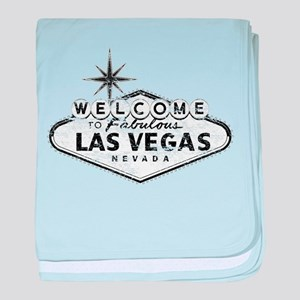 Welcome To Las Vegas Sign baby blanket