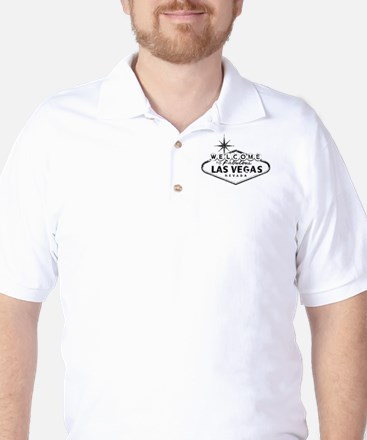 Welcome To Las Vegas Sign Golf Shirt