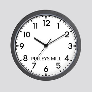 Pulleys Mill Newsroom Wall Clock