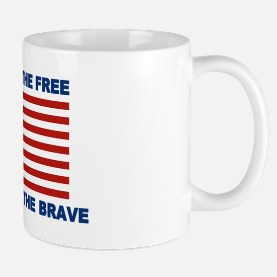 Land Of The Free Thanks To The Brave Mugs