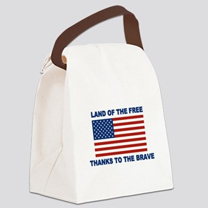 Land Of The Free Thanks To The Brave Canvas Lunch
