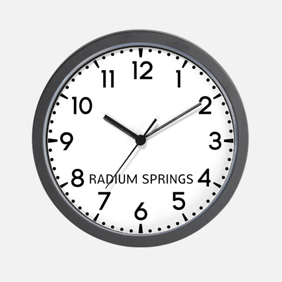 Radium Springs Newsroom Wall Clock