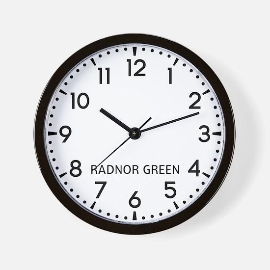 Radnor Green Newsroom Wall Clock