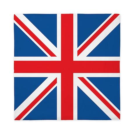union jack flag square design queen duvet by britstuffshop