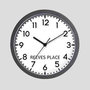 Reeves Place Newsroom Wall Clock