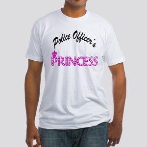 Police Officer's Princess Fitted T-Shirt