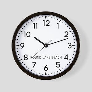 Round Lake Beach Newsroom Wall Clock