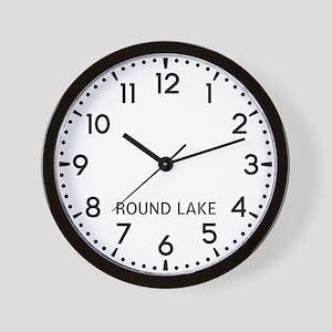 Round Lake Newsroom Wall Clock