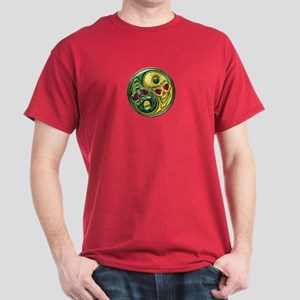 Yin Yang Jade Ruby Skulls Medallion T-Shirt
