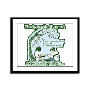 No Substitute For Books Framed Panel Print