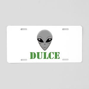 Dulce Aluminum License Plate
