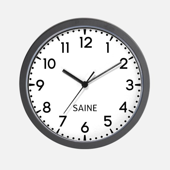 Saine Newsroom Wall Clock