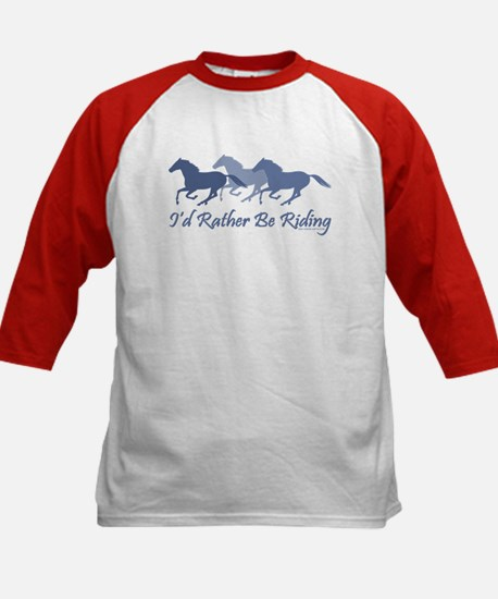 Rather Be Riding A Wild Horse Kids Baseball Jersey
