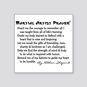 "Martial Arts Square Sticker 3"" x 3"""