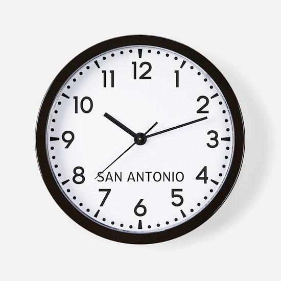 San Antonio Newsroom Wall Clock