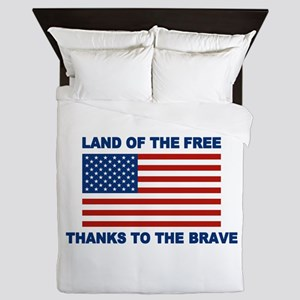 Land Of The Free Thanks To The Brave Queen Duvet