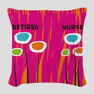 Retired Nurse AB Woven Throw Pillow